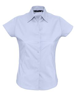 Рубашка женская с коротким рукавом EXCESS голубая