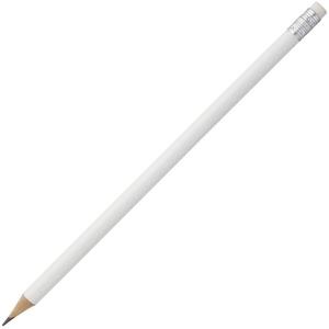 Карандаш простой Hand Friend с ластиком, белый