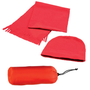 Флисовый набор WINTER шапка и шарф в чехле