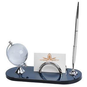Набор настольный: подставка для визиток, глобус и авторучка
