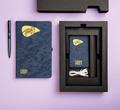 Набор PowerBox: универсальное зарядное устройство (4000mAh), блокнот и ручка в подарочной коробке