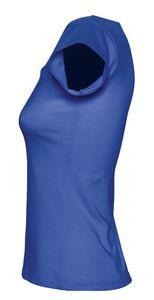 Футболка женская с глубоким вырезом MELROSE 150 ярко-синяя (royal)