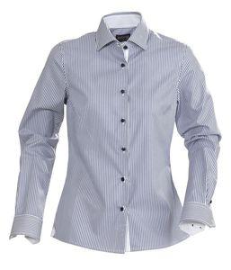 Рубашка женская в полоску RENO LADIES, темно-синяя