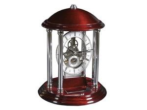 Часы Его превосходительство, серебристый/красное дерево