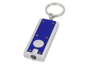 Брелок-фонарик, синий/серебристый