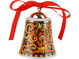 Новогодний колокольчик Versace Barocco, оранжевый/черный/золотистый