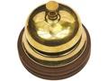 Настольный звонок для совещаний, золотистый/коричневый