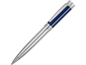 Ручка шариковая Cerruti 1881 Zoom Azur, серебристый/синий