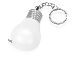 Брелок-рулетка для ключей 1 м., белый/серебристый