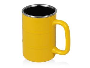 Кружка Баррель 400мл, желтый
