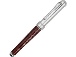 Ручка роллер Cesare Emiliano серебро, кожа ящерицы в футляре