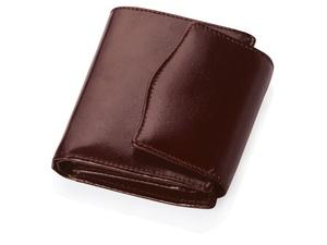 Портмоне с отделениями для кредитных карт и монет, коричневый