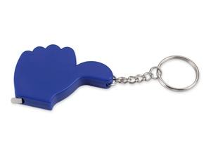 Брелок-рулетка, 1 м., синий