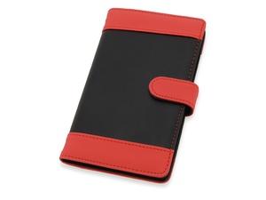 Визитница Эсмеральда на 60 визиток, черный/красный