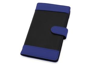 Визитница Эсмеральда на 60 визиток, черный/синий