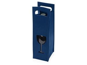 Декоративный чехол для бутылки, синий