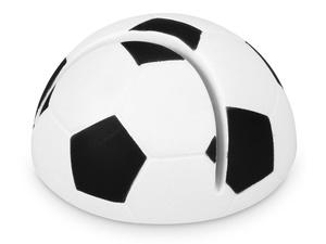 Подставка для визиток Футбол, белый/черный