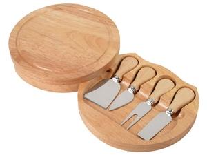 Набор ножей для сыра в деревянном футляре, который можно использовать как разделочную доску