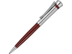 Ручка шариковая Nina Ricci модель Legende Burgundy в футляре, красный/серебристый