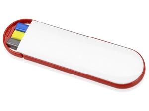 Набор Квартет: ручка шариковая, карандаш и маркер, белый/красный