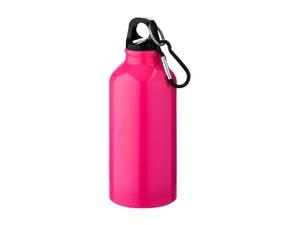 Бутылка Oregon с карабином 400мл, неоновый розовый