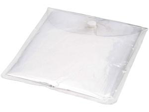Дождевик с капюшоном, в чехле, белый прозрачный