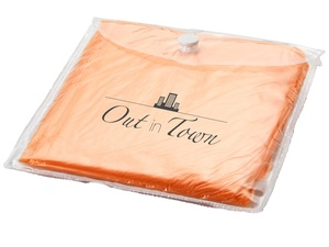 Дождевик с капюшоном, в чехле, оранжевый