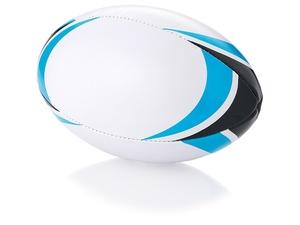 Мяч для регби Stadium, белый/голубой