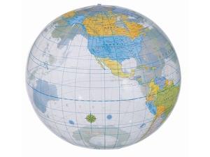 Мяч надувной пляжный Globe, разноцветный