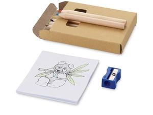 Набор для рисования: 6 цветных карандашей, точилка, раскраска