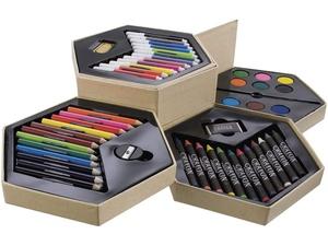 Набор для рисования: 12 фломастеров, 12 карандашей,