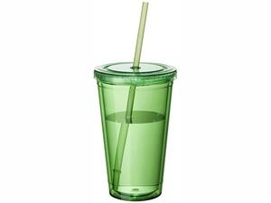 Термостакан с соломинкой Cyclone, зеленый