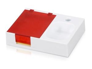 Подставка под ручку и скрепки Потакет, белый/красный