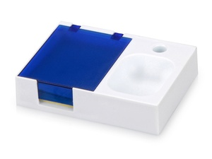 Подставка под ручку и скрепки Потакет, белый/синий