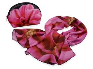Набор Георгин: косметичка и шарф