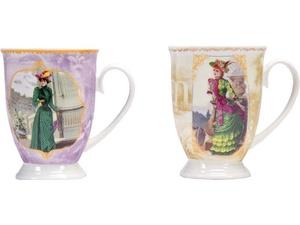 Набор: две кружки и чайное ситечко в коробке Дамы высшего общества