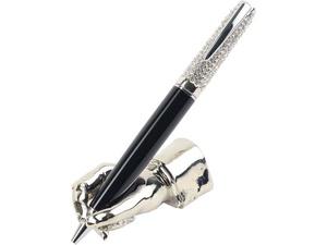 Набор William Lloyd : ручка шариковая и подставка, черный/серебристый