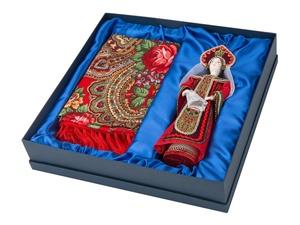 Набор Евдокия: кукла в народном костюме, платок, красный
