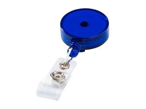 Держатель для бейджа или карты доступа Lech, синий прозрачный