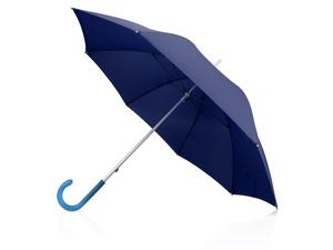 Зонт-трость механический с полупрозрачной ручкой, синий