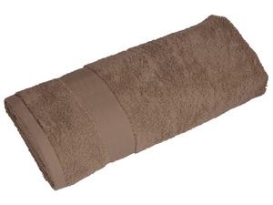 Полотенце махровое Банный день, коричневый