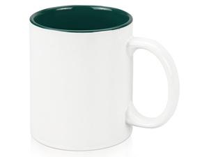 Кружка Gain 320мл, белый/зеленый