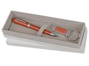 Набор Cacharel: брелок с флеш-картой USB 2.0 на 4 Гб, шариковая ручка