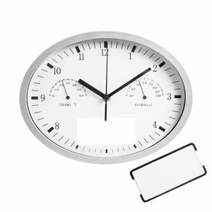 Часы настенные INSERT3 с термометром и гигрометром, белые