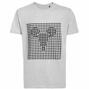 Футболка мужская Optical Mouse, серый меланж