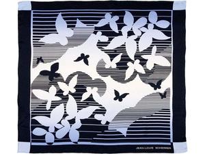 Платок шелковый Jean-Louis Scherrer модель Papillons