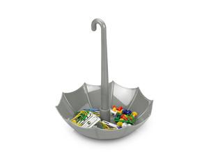Подставка-ручка под канцелярские принадлежности «Зонтик», серебристый