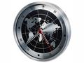 Часы настенные «Весь мир», серебристый/черный