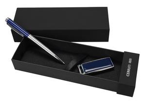 Набор Cerruti 1881: ручка шариковая, флеш-карта USB 2.0 на 2 Гб «Zoom Blue»