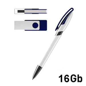 Набор ручка + флеш-карта 16Гб в футляре